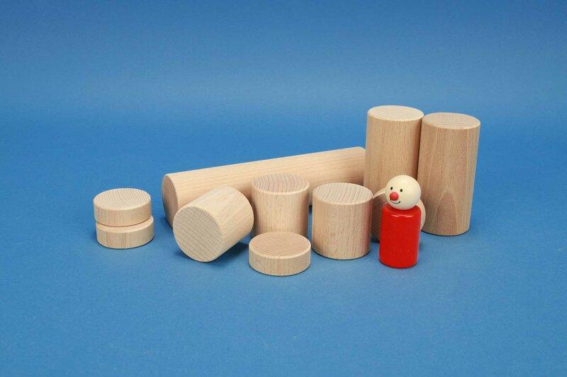 cylindres en bois Ø 4,5 cm