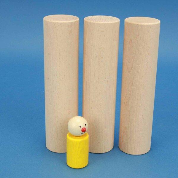 Cylindre en bois Ø 4,5 x 18 cm