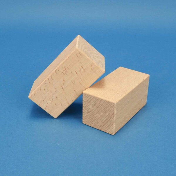 blocs de construction en bois 10 x 5 x 5 cm