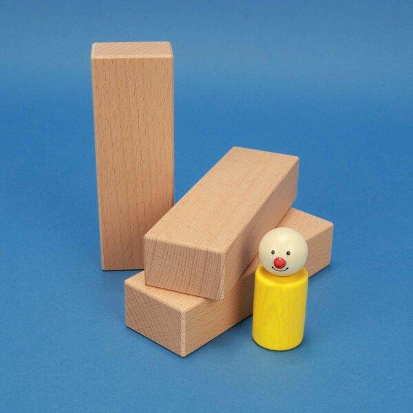 cubes en bois 13,5 x 4,5 x 3 cm