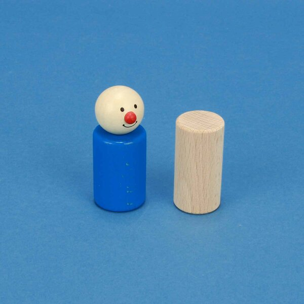 cylindres en hêtre Ø 1 inch x 2 inches