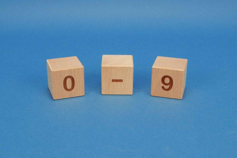 Cubes en numéro 0-9 positif