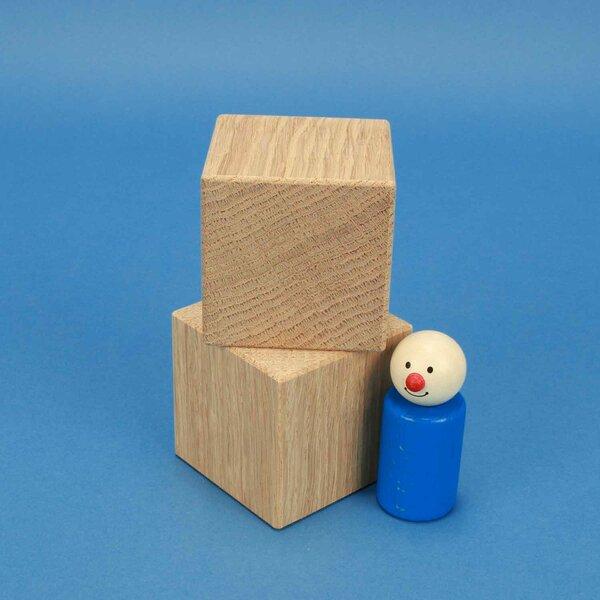 cubes en bois chêne 6 cm