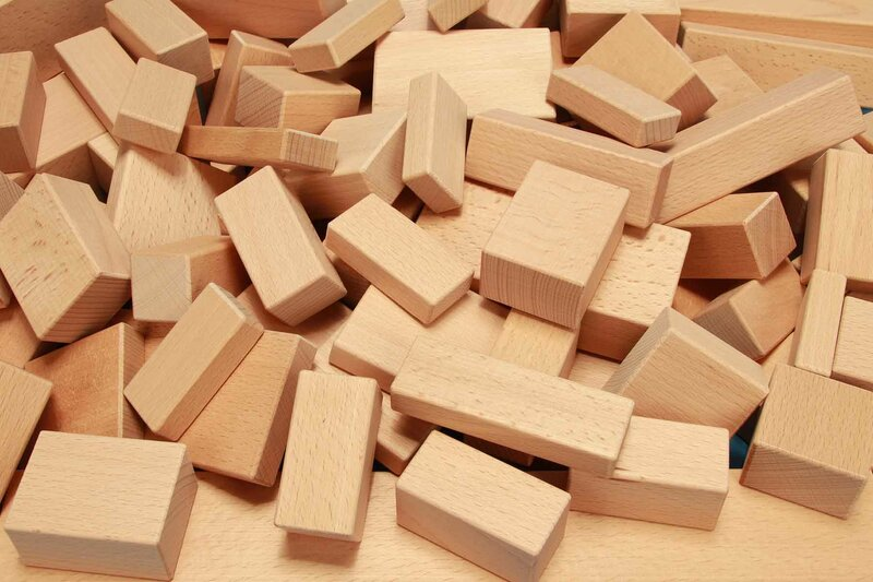 cubes en bois carrés unique