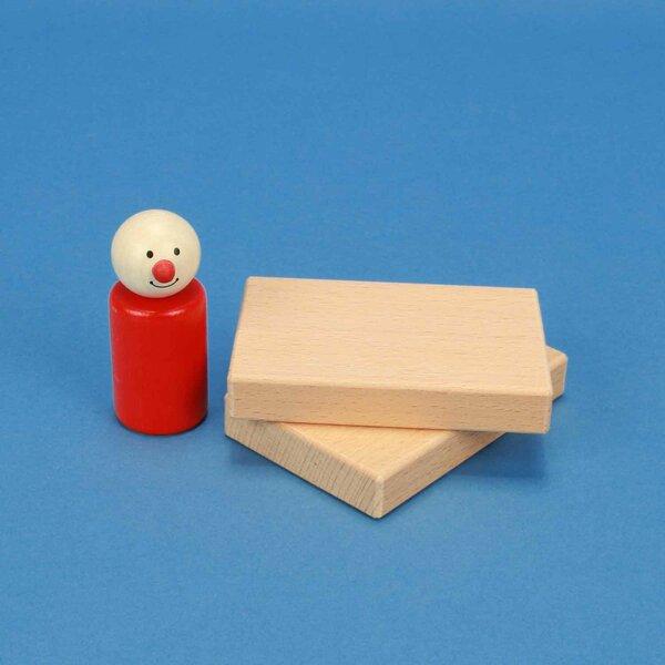 blocs de construction en bois 9 x 6 x 1,5 cm