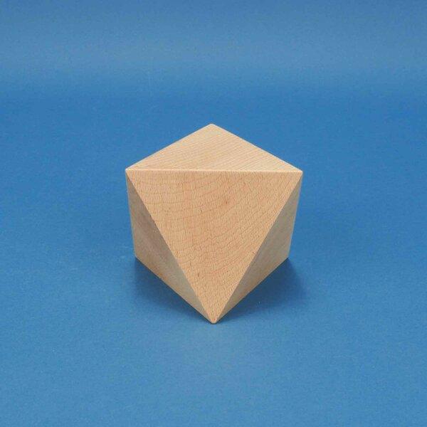 Platonic solid Octahedron en hêtre 10 cm