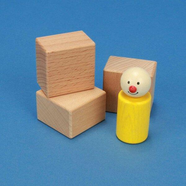 cubes en bois 4,5 x 4,5 x 3 cm