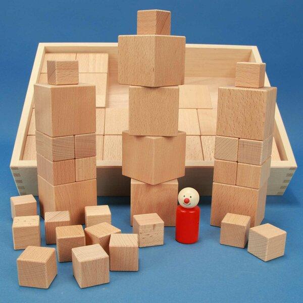 Froebel Jouet de cubes en bois 66