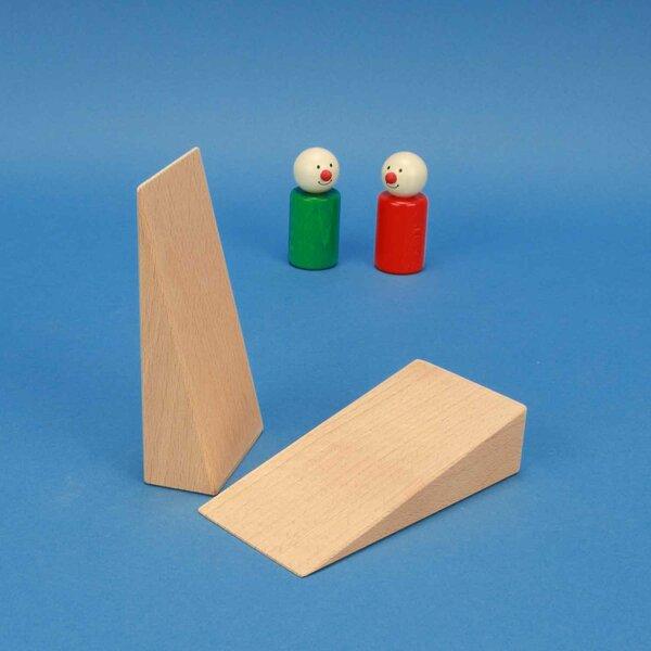 triangles en bois 12 x 6 x 3 cm