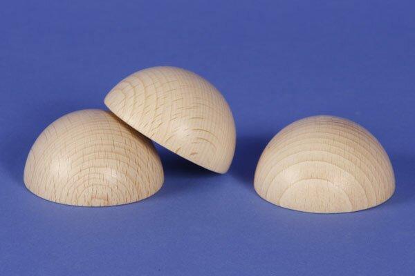 Demi Sphères en bois en hetre Ø25mm