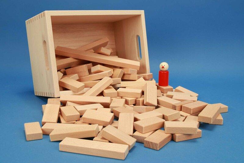 Ensemble de petits cubes en bois