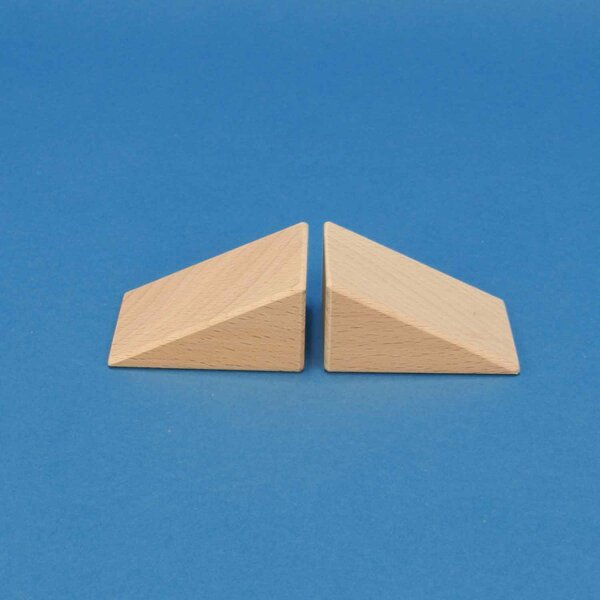 triangles en bois 60x45x30mm