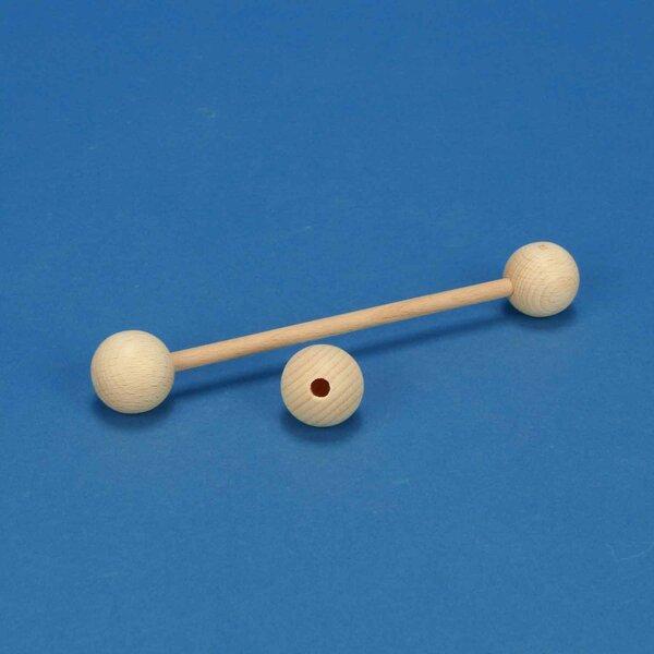 Boules en bois Ø 30 mm demi-percés 6mm