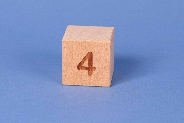 Cubes en lettres 4 positive