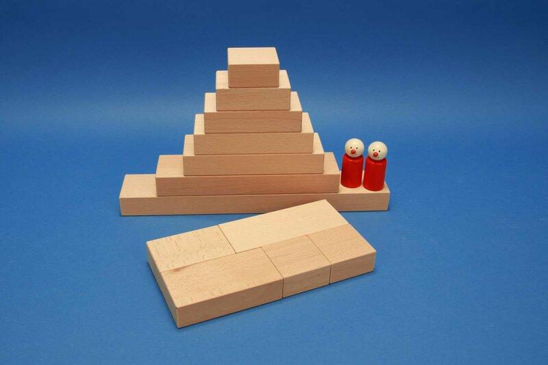 Fröbel cubes en bois unique
