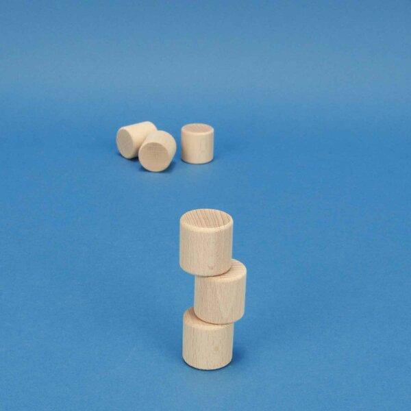 cylindres en hêtre Ø 1 inch x 1 inch