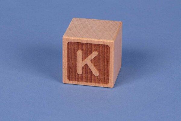 Cubes en lettres K négatif