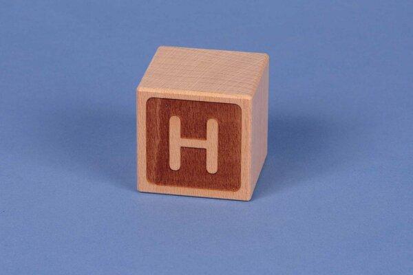 Cubes en lettres H négatif