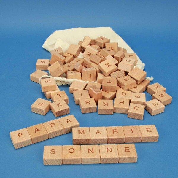 ABC-cubes en bois 82 pièces