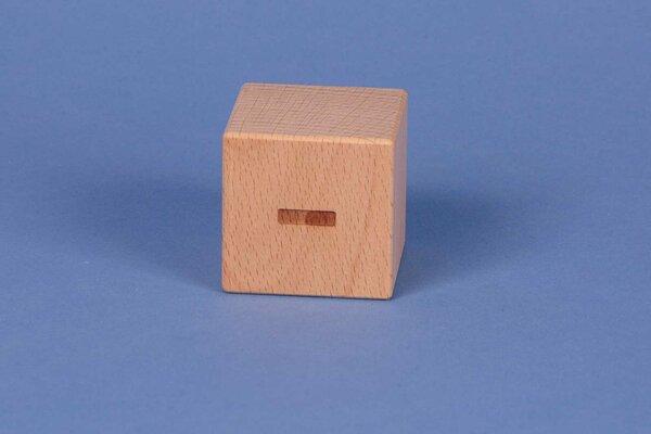 Cubes en lettres minus positive