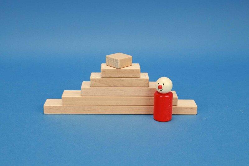 cubes en bois petits 3 x 1,5 cm