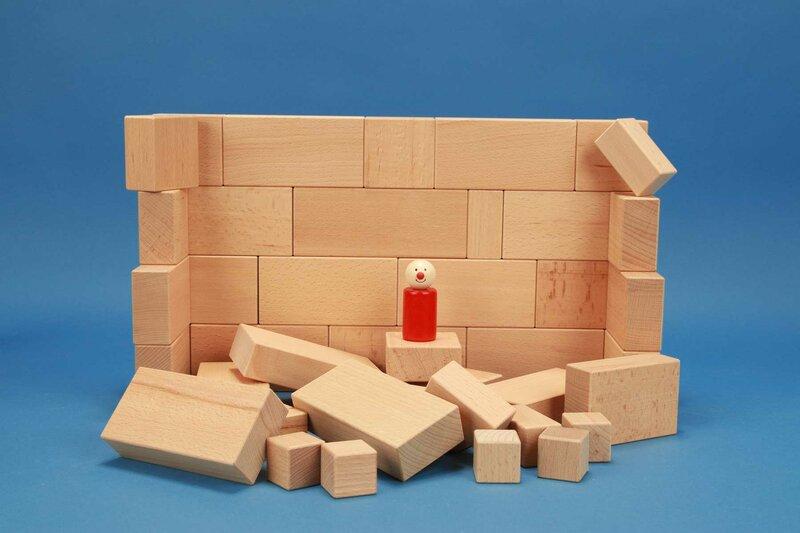 Ensemble de cubes en bois grande