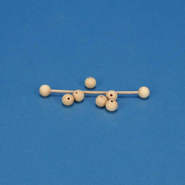 100 Boules en bois Ø 10mm demi percés 3mm