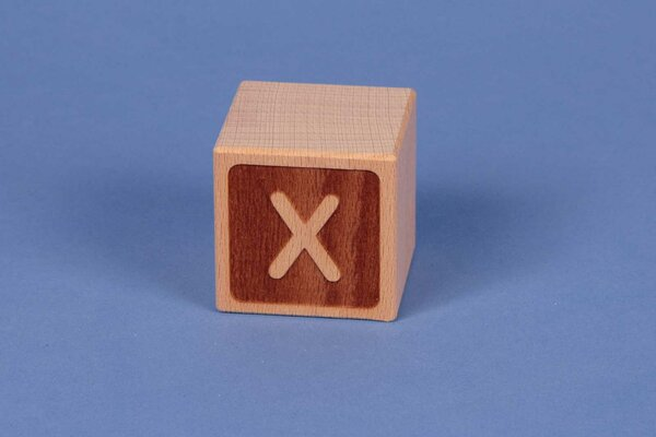 Cubes en lettres X négatif