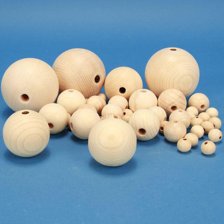 Balles en bois avec perçage