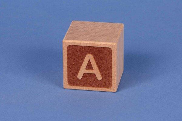 Cubes en lettres A négatif