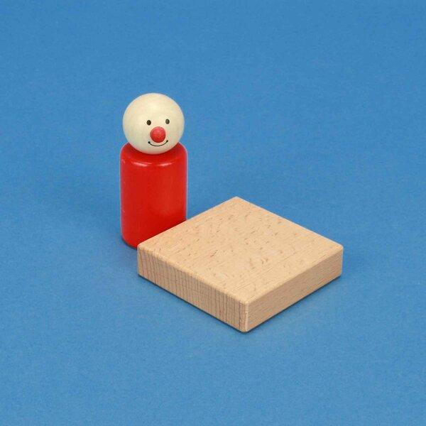 blocs de construction en bois 6 x 6 x 1,5 cm