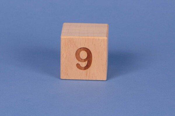 Cubes en lettres 9 positive