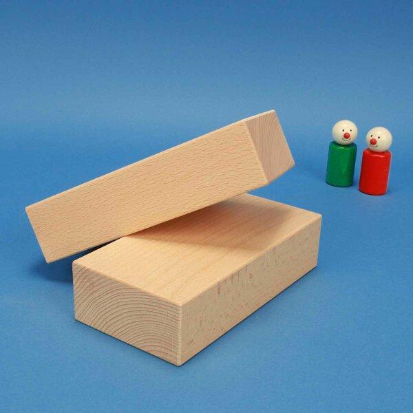 cubes de construction en bois grands 18 x 9 x 4,5 cm