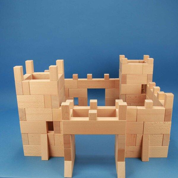 château-fort de 170 blocs de construction en bois