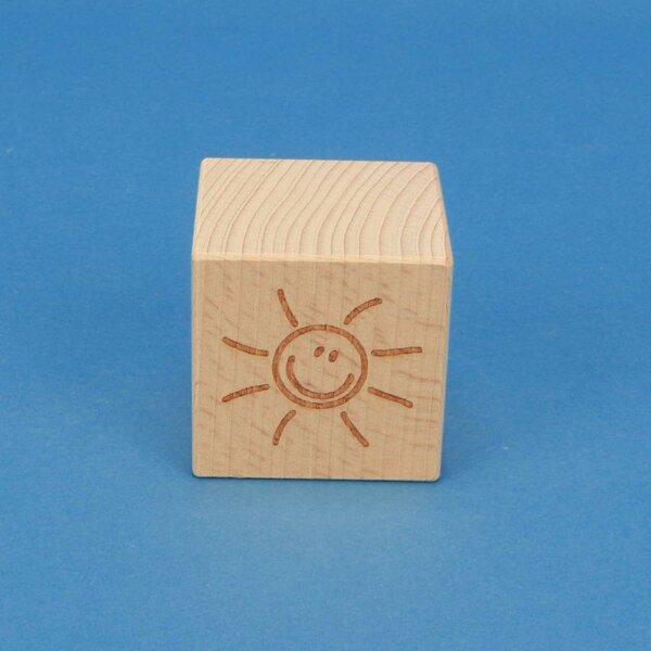 SMILE cubes en bois 4,5 cm