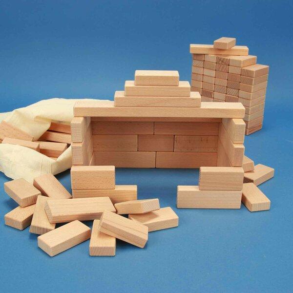Jouet de 100 cubes en bois de la serie 3 x 1,5 cm