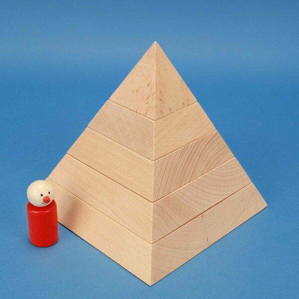 grande pyramide à base carrée 18 x 18 x 18 cm