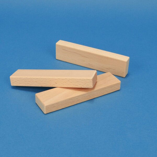 blocs de construction de bois 12 x 3 x 1,5 cm