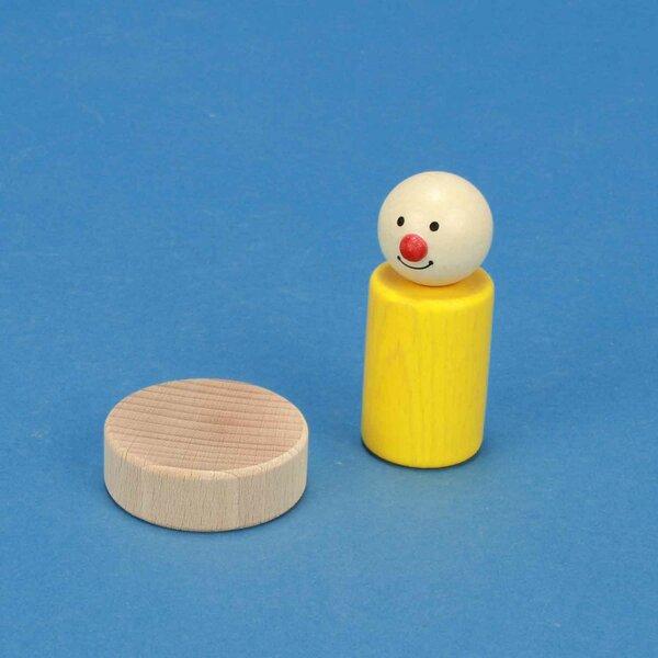 cubes en bois rond Ø 4,5 x 1,5 cm