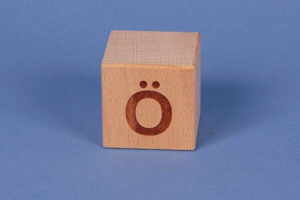 Cubes en lettres Ö positive