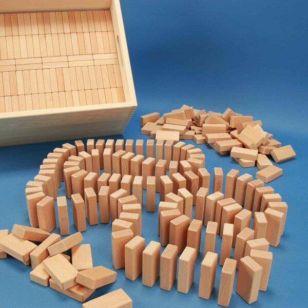 """Jouet """" Domino 584"""" dans une caisse grande avec laserengraving"""