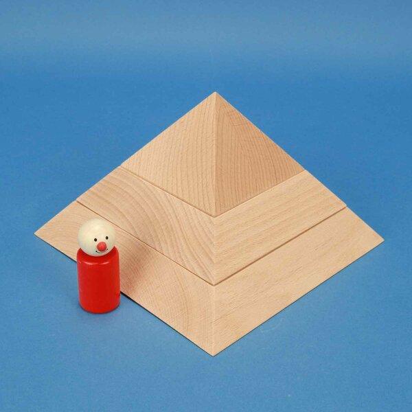 grande pyramide plat à base carrée 19 x 19 x 12 cm