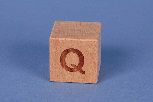 Cubes en lettres Q positive