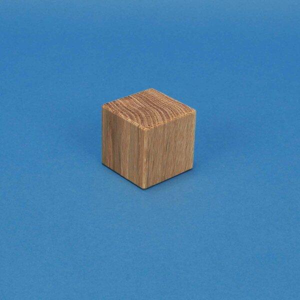 cubes en bois chêne 3 cm