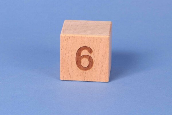 Cubes en lettres 6 positive