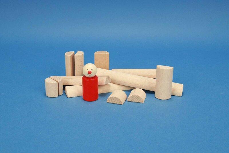 demi cylindres en bois Ø 3 cm