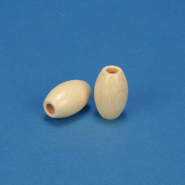 Perle en bois olive 28x44mm - 10mm percé