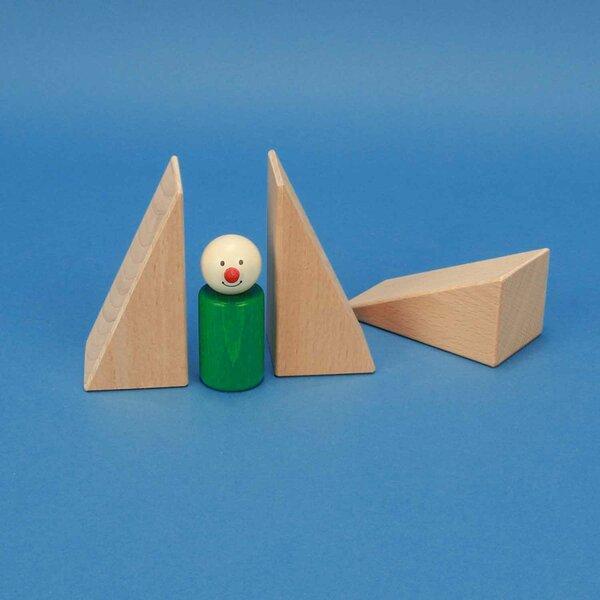 triangles en bois 9 x 4,5 x 4,5 cm