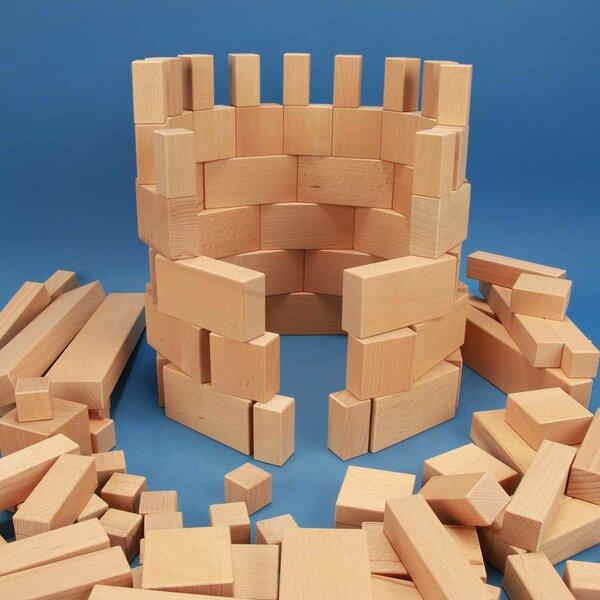 Jeu de 140 cubes en bois grandes