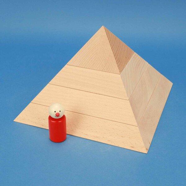 grande pyramide plat à base carrée 24 x 24 x 15 cm